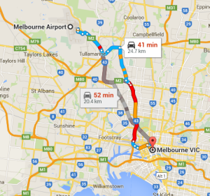Melbourne Airport to City
